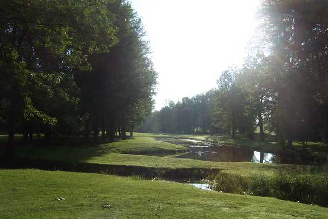 A summer view of the 5th hole at Chili Country Club