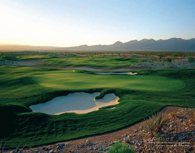 A view of the 5th hole at Coyote Springs Golf Club