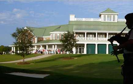 A view of the clubhouse at Cape Fear Country Club
