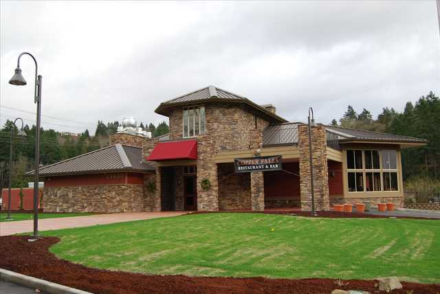 A view of the clubhouse at Auburn Golf Course