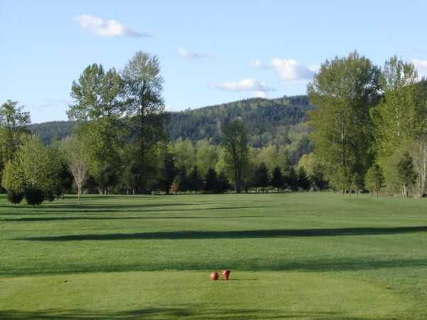 A view from the 13th tee at Twin Rivers Golf Course