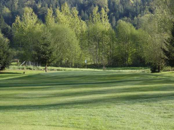 A view of green #12 at Twin Rivers Golf Course