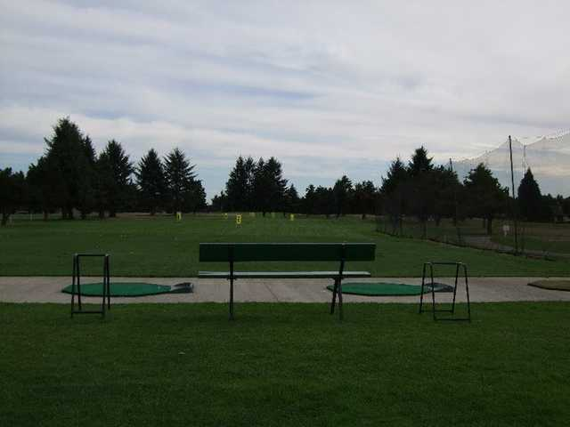 A view of the driving range at Capitol City Golf Club
