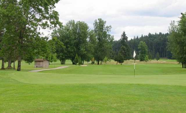A view of a green at Tumwater Valley Golf Club