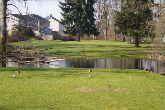 A view from a tee at Tahoma Valley Golf & Country Club