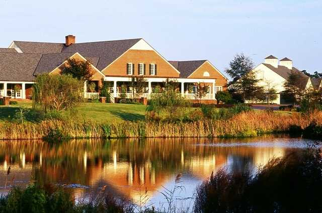 A view of the clubhouse at Nicklaus Course from Country Club of Landfall