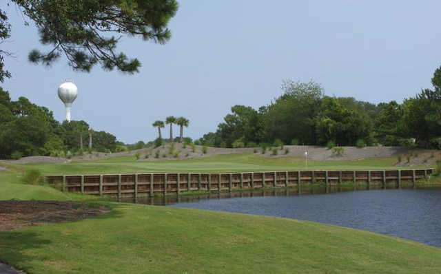 A view of hole #17 at Masonboro Golf Club