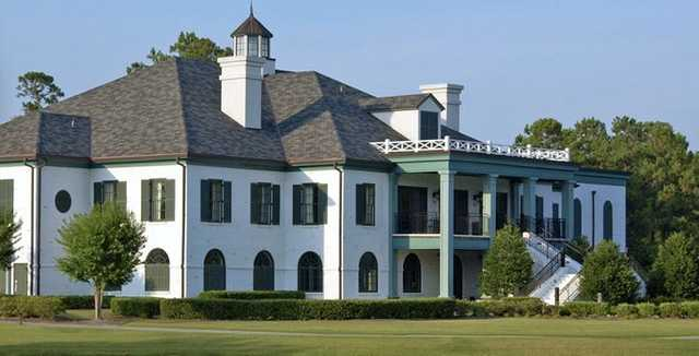 A view of the clubhouse at Porters Neck Country Club