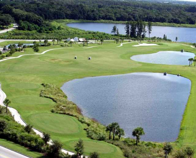 Aerial view of Stoneybrook West's 5th hole