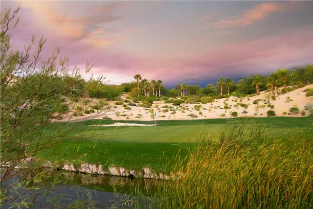 A view of green #7 at Arroyo Course from Red Rock Country Club