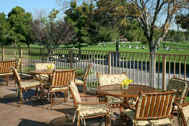 A view from the clubhouse terrace at Spanish Trail Country Club