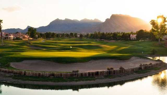 A sunny view from Palm Valley Course at Golf Summerlin