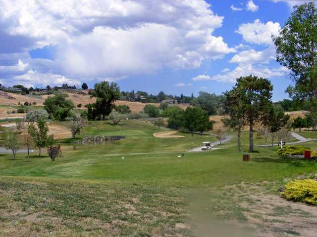 A view from a tee at Wildcreek Golf Course