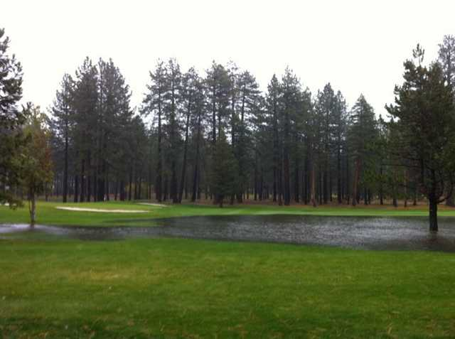 A view of hole #9 at Edgewood Tahoe Golf Course