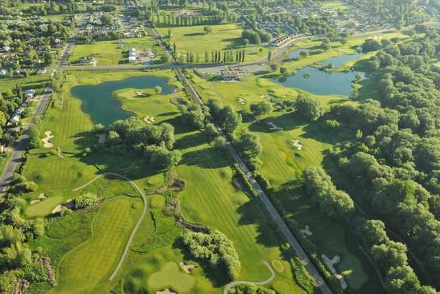 Aerial view from Logan River Golf Course
