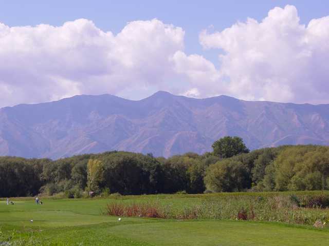 A view of the 16th hole from tee at Logan River Golf Course