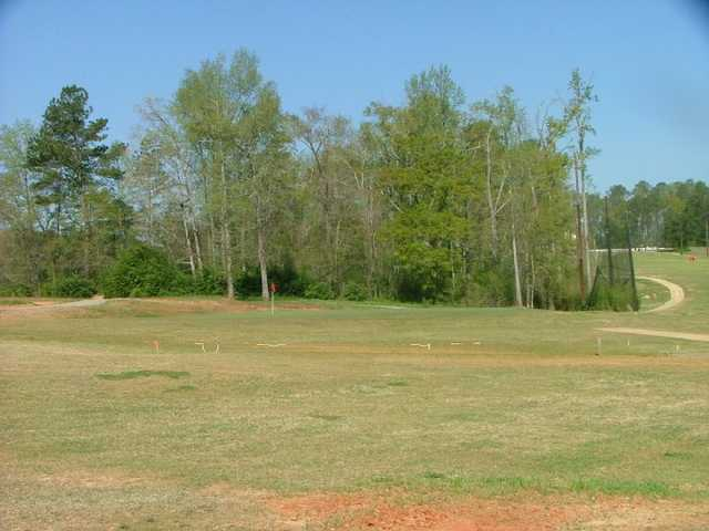 A view of the 18th green at Lake Jonesco Golf Course