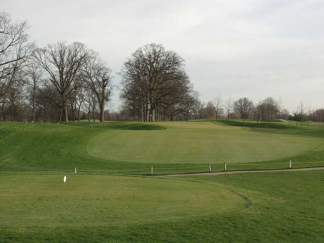 A view of the 8th green at Harrison Hills Golf & Country Club.