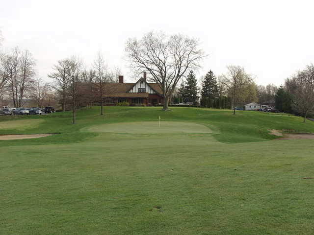 A view of hole #18 at Harrison Hills Golf & Country Club.