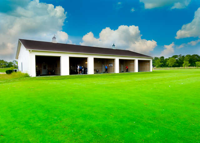 A view of the covered driving range at Prairie View Golf Club