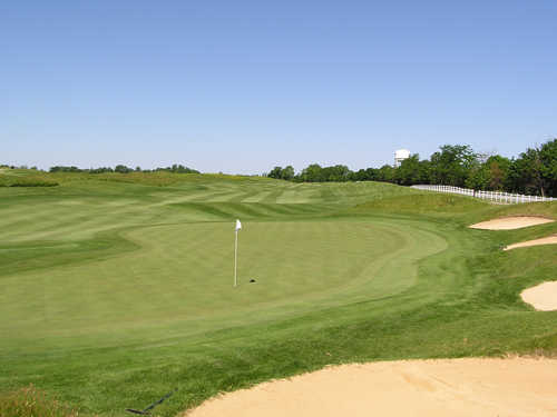 A view of green #3 at Bear Slide Golf Club