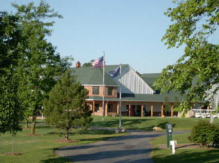 A view of the clubhouse at Deer Creek Golf Club