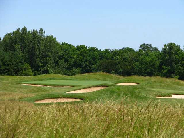 A view of hole #1 at East from Otter Creek Golf Course.