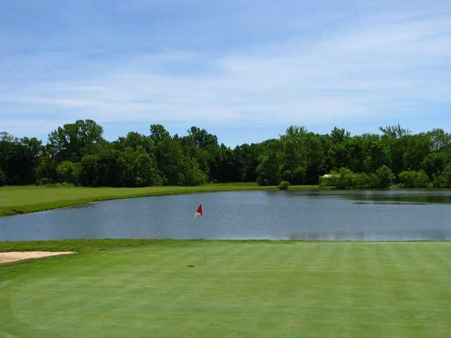 A view of the 3rd green at East from Otter Creek Golf Course.