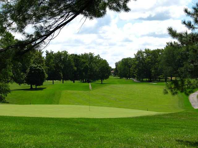 A view of green #1 at West from Otter Creek Golf Course.