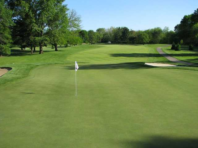 A view of the 3rd green at West from Otter Creek Golf Course.