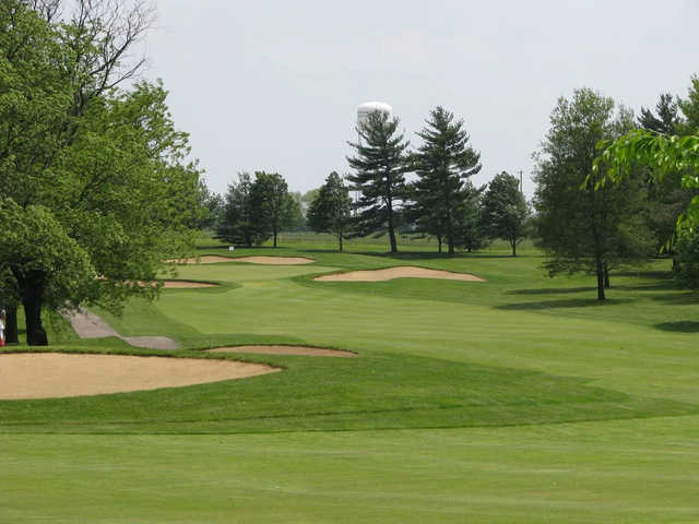 A view of hole #7 at West from Otter Creek Golf Course.
