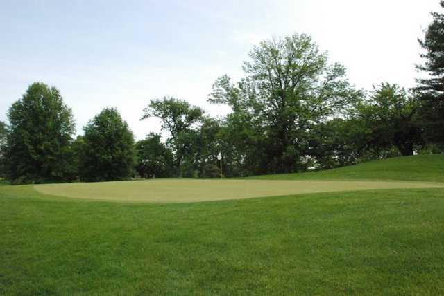 A view of the 4th green at Hillview Country Club