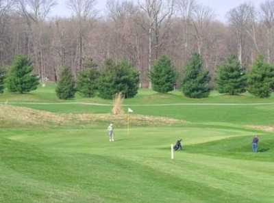A view of the 12th hole at Rolling Meadows Golf Course
