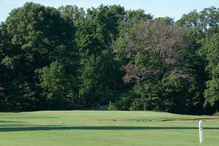 A view of green #2 at Arrowhead Golf Course
