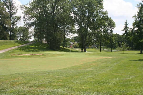A view of the 1st green at Greensburg Country Club