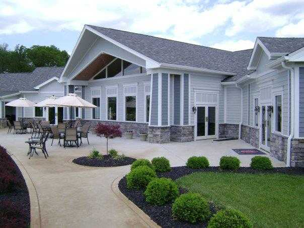 A view of the clubhouse at Champions Pointe Golf Club.