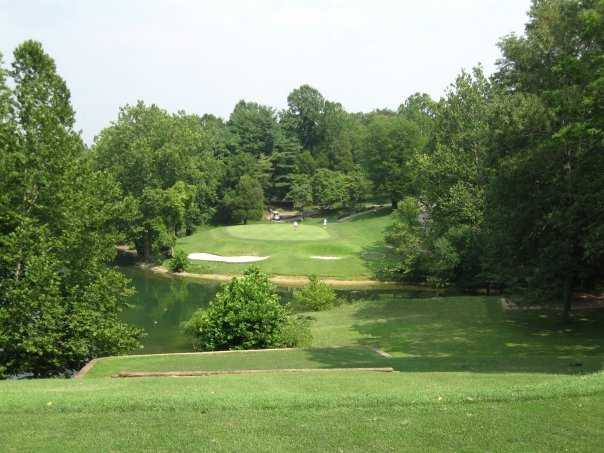 A view of hole #8 at Pine Ridge Golf Course