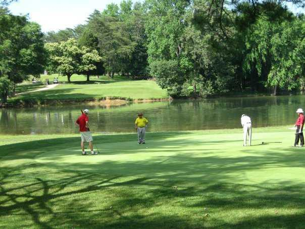 A view of the 14th green at Pine Ridge Golf Course