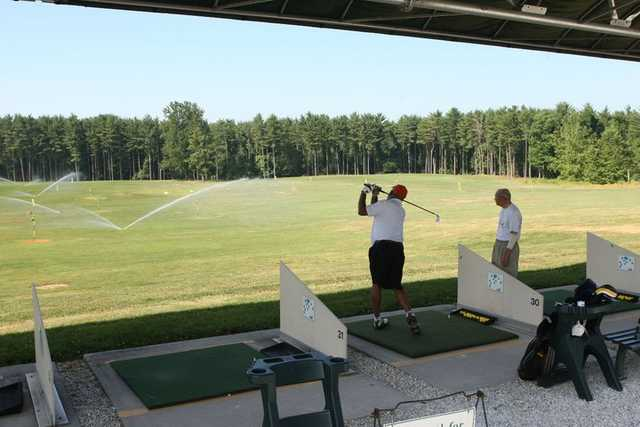 A view of the driving range at Pine Ridge Golf Course