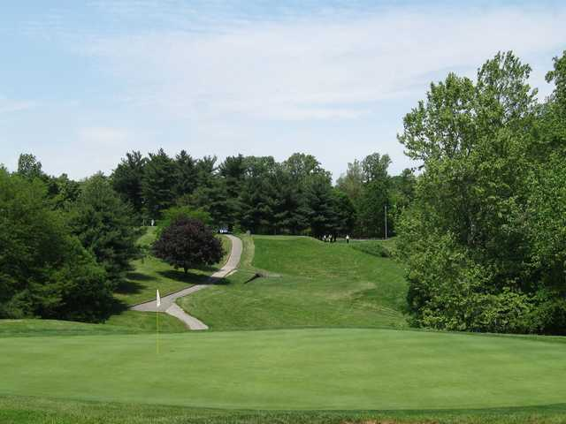 A view of the 11th hole at Mount Pleasant Golf Club.