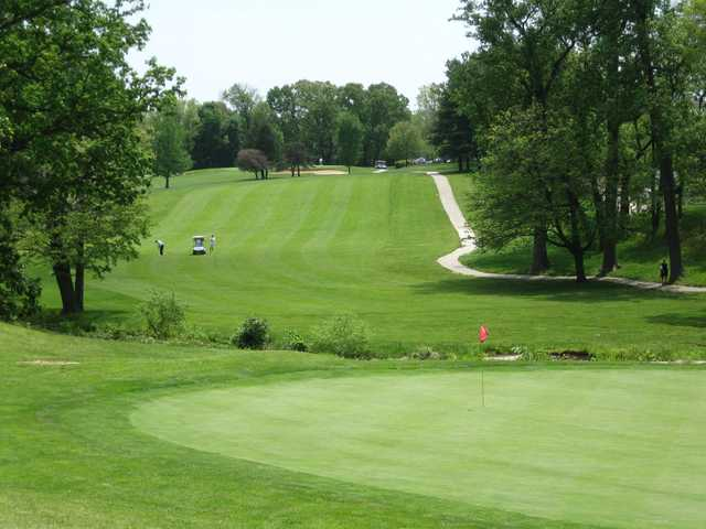 A view of green #15 at Mount Pleasant Golf Club.