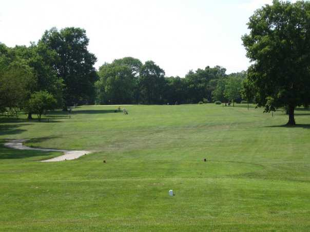 A view from the 1st tee at Carroll Park Golf Course