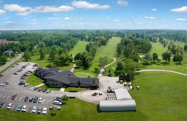 Aerial view of the clubhouse at Willodell Golf Club of Niagara