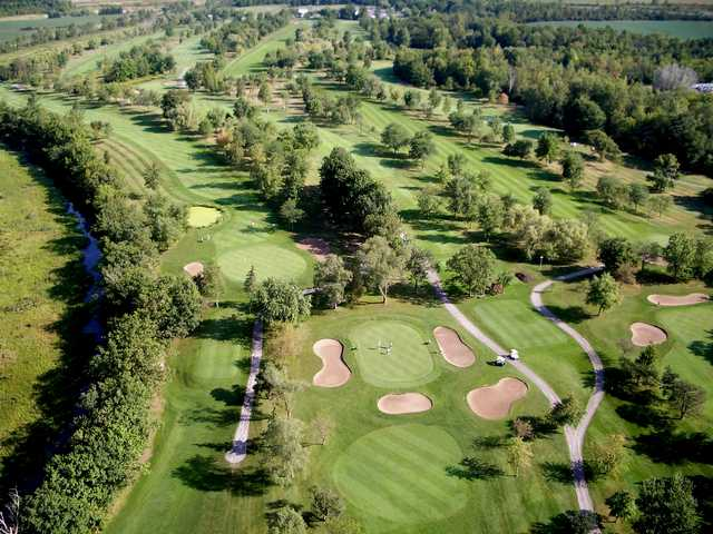 Aerial view of hole #7 Willodell Golf Club of Niagara