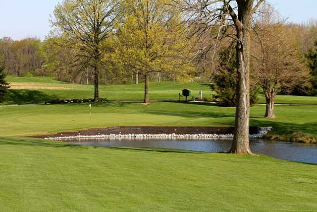 A view of the 2nd hole at Sycamore Course from Eagle Creek Golf Club