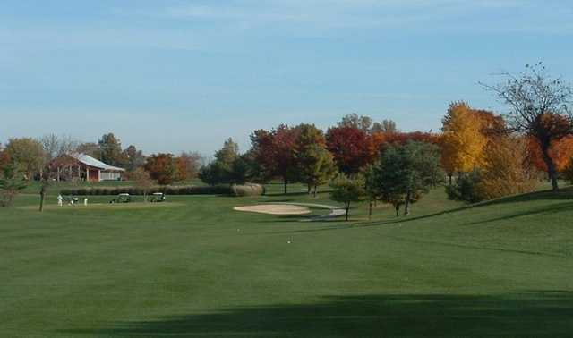 A fall view from Smock Golf Course