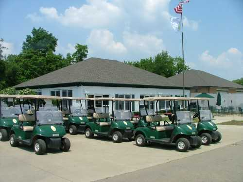 A view of the clubhouse at Sugar Ridge Golf Club