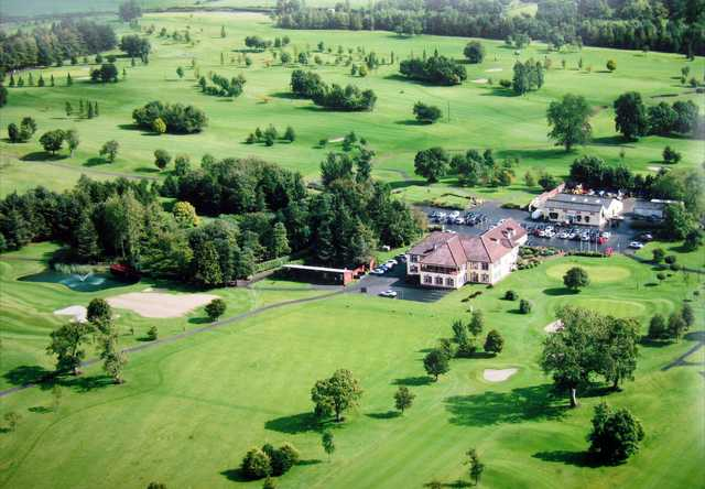 Aerial view of the Black Bush Golf Club.