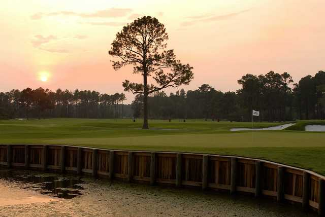 Sunset view from the Gulf Shores Golf Club