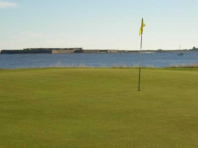 A view of the 4th hole at Fortrose & Rosemarkie Golf Club.